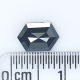 1.13 CT Natural Loose Diamond Hexagon Black Color 7.90 MM KDL9082