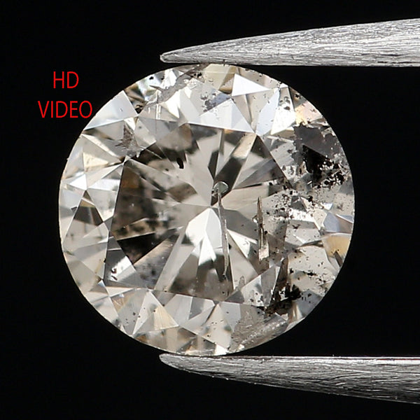 0.42 Ct Natural Loose Diamond, White Diamond, Round Diamond, Round Brilliant Cut Diamond, Sparkling Diamond, Rustic Diamond L027