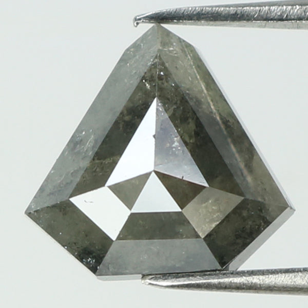 2.01 Ct Natural Loose Diamond Shield Grey Color I3 Clarity 8.90 MM L8223