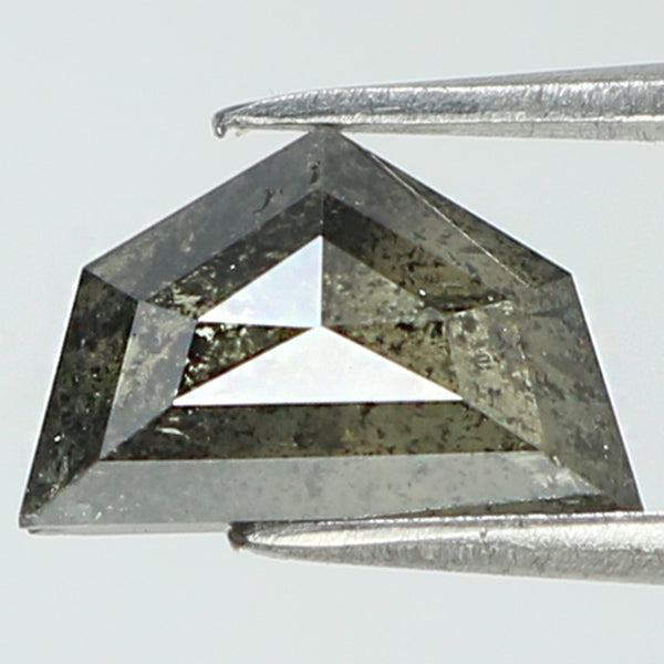 1.15 Ct Natural Loose Diamond Antique Black Grey Salt And Pepper Color I3 Clarity 8.60 MM KR2042