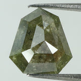 1.93 Ct Natural Loose Diamond Shield Grey Green Color I3 Clarity 9.00 MM L8145