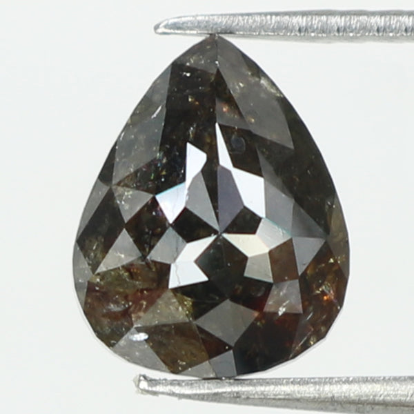 1.92 Ct Natural Loose Diamond Pear Black Grey Color I3 Clarity 8.30 MM L8180