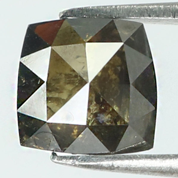 0.79 Ct Natural Loose Diamond Square Brown Color I3 Clarity 5.35 MM KR1992