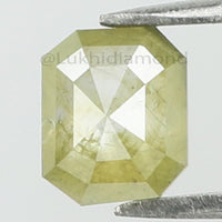0.42 Ct Natural Loose Diamond Emerald Yellow Gray Color I3 Clarity 5.40 MM KR2091