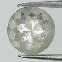 0.91 Ct Natural Loose Diamond Round Rose Cut Grey Color I3 Clarity 6.50 MM L8103