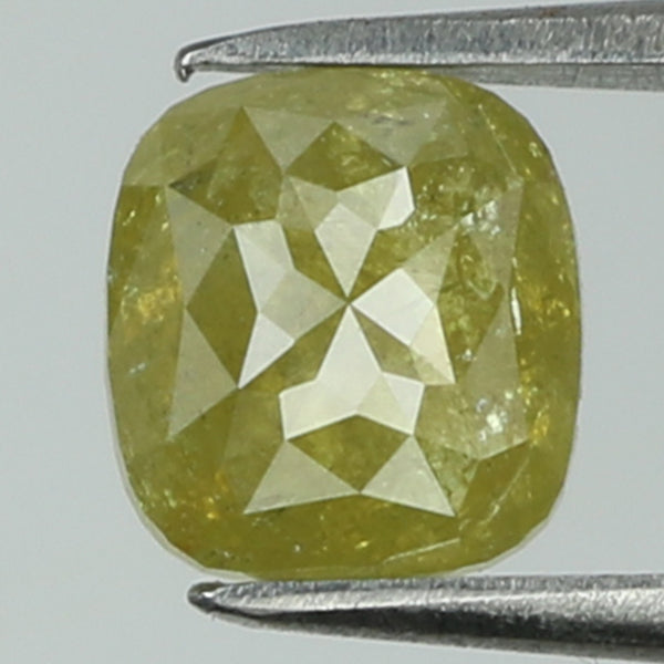 0.85 Ct Natural Loose Diamond Cushion Yellow Color I3 Clarity 5.65 MM L8204