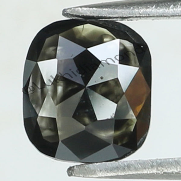 0.75 Ct Natural Loose Diamond Cushion Black Color I3 Clarity 5.80 MM KR2084