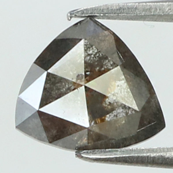 0.71 Ct Natural Loose Diamond Triangle Black Grey Color I3 Clarity 6.05 MM L8205