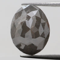 4.43 Ct Natural Loose Diamond Oval Grey Color I3 Clarity 10.50 MM KDK2020
