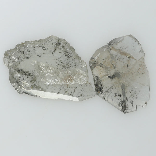 1.61 Ct Natural Loose Diamond Rough Black Gray Salt And Pepper Color I3 Clarity 2 Pcs L8248