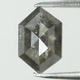 0.70 Ct Natural Loose Diamond Hexagon Grey Color I3 Clarity 7.05 MM L8153