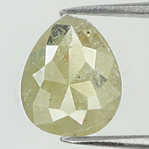 0.71 Ct Natural Loose Diamond Pear Yellow Color I3 Clarity 7.60 MM L8088