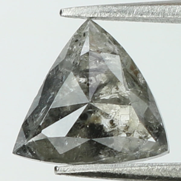 1.11 Ct Natural Loose Diamond Triangle Grey Color I3 Clarity 6.90 MM L8285
