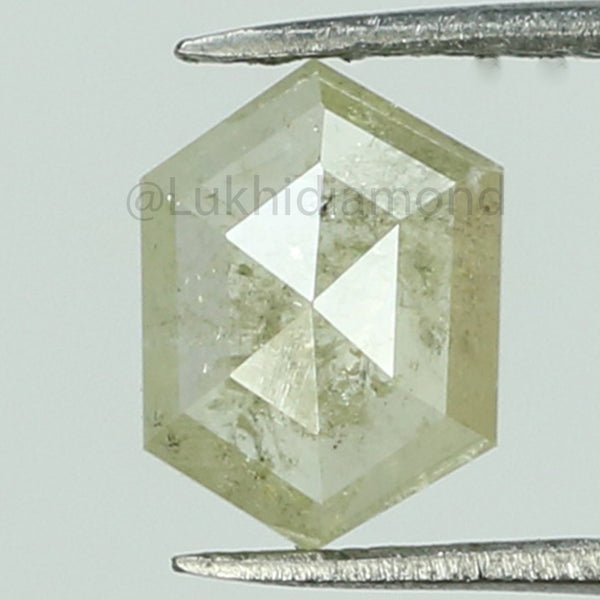 0.75 CT Natural Loose Diamond Hexagon Grey Color I3 Clarity 7.50 MM KR2097