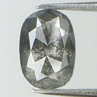 1.09 Ct Natural Loose Diamond Oval Grey Color I3 Clarity 7.80 MM L8191