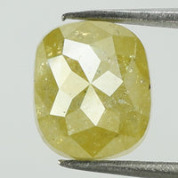 2.25 Ct Natural Loose Diamond Cushion Yellow Color I3 Clarity 7.55 MM L8126