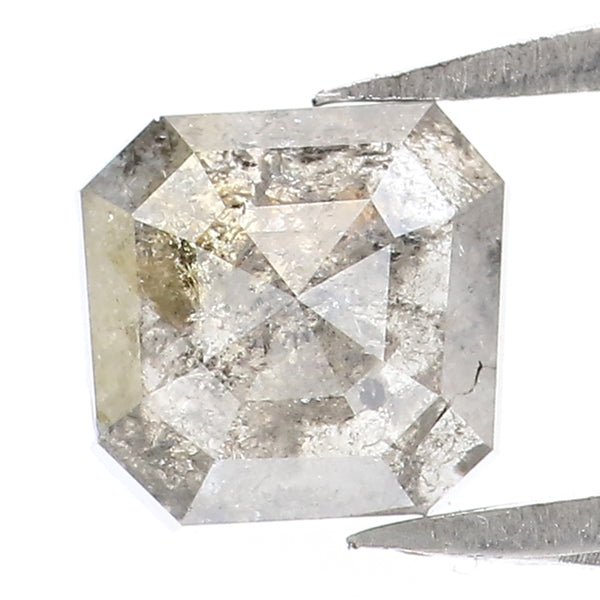 1.19 Ct Natural Loose Diamond Round Black Grey Salt And Pepper Color I3 Clarity 6.50 MM KR1959