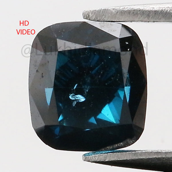 0.79 Ct Natural Loose Diamond Cushion Blue Color SI1 Clarity 4.90 MM KDL8527