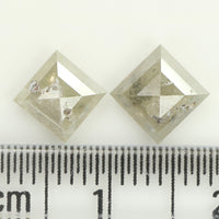 1.13 Ct Natural Loose Diamond Round Black Gray Salt And Pepper Color I3 Clarity 6.60 MM  KDL8739