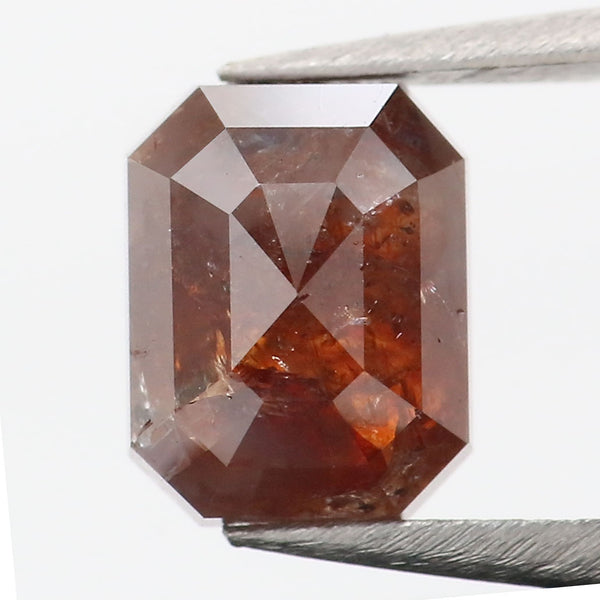 2.24 Ct Natural Loose Diamond Emerald Brown Color I3 Clarity 7.80 MM L8923