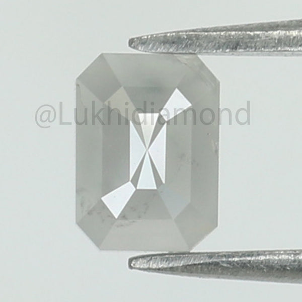 0.61 Ct Natural Loose Diamond Emerald white Milky Color I3 Clarity 5.40 MM L8437
