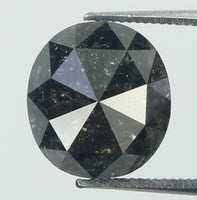 1.57 Ct Natural Loose Diamond Oval Black Color I3 Clarity 6.90 MM KDK1953