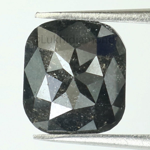 1.98 Ct Natural Loose Diamond Cushion Black Color I3 Clarity 8.30 MM L8362