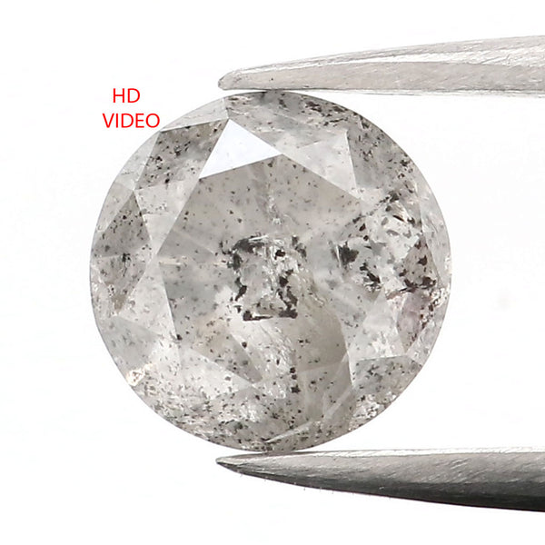 1.04 Ct Natural Loose Diamond Round Gray Color 6.05 MM L9090