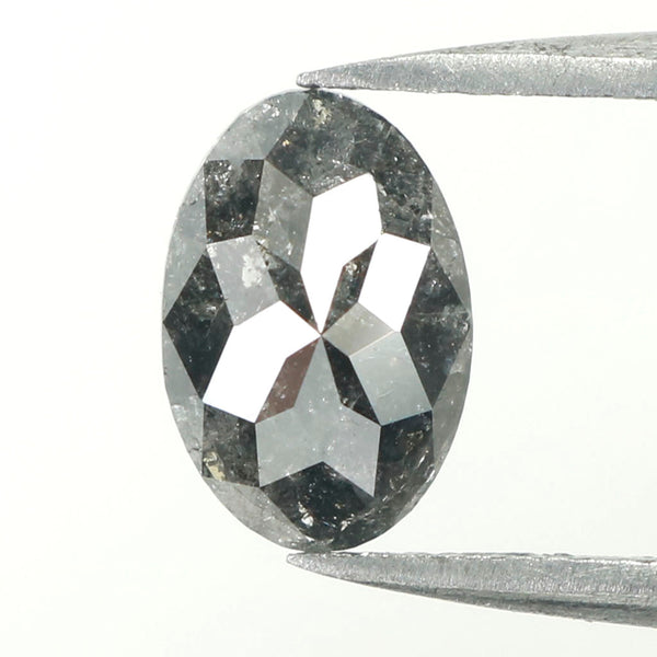 1.22 Ct Natural Loose Diamond, Oval Diamond, Black Diamond, Oval Cut Diamond, Polished Diamond, Rose Cut Diamond, Rustic Diamond L023