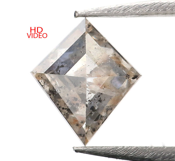 1.07 Ct Natural Loose Diamond Kite Gray Brown Color I3 Clarity 8.60 MM KDK2176