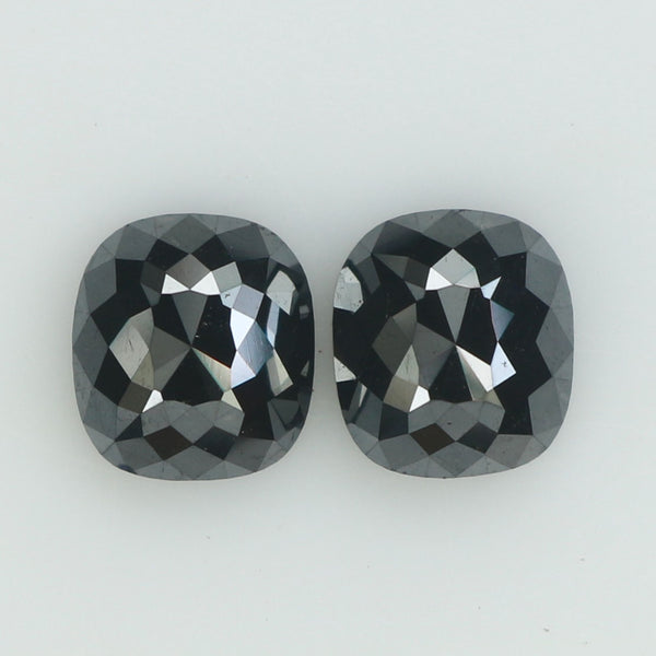 2.20 Ct Natural Loose Diamond Cushion Pair Black Color 2 Pcs L8908