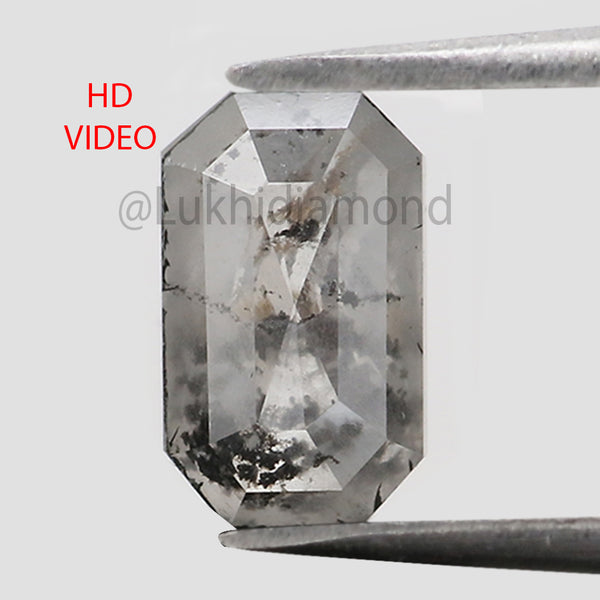 1.82 Ct Natural Loose Diamond Emerald Grey Color I3 Clarity 8.80 MM KDL8451