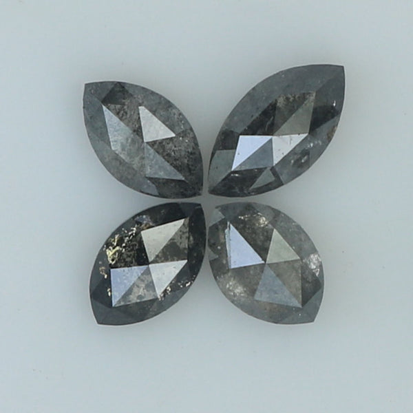 1.16 Ct Natural Loose Diamond Marquise Black Grey Salt And Pepper Color I3 Clarity 4 Pcs L8835
