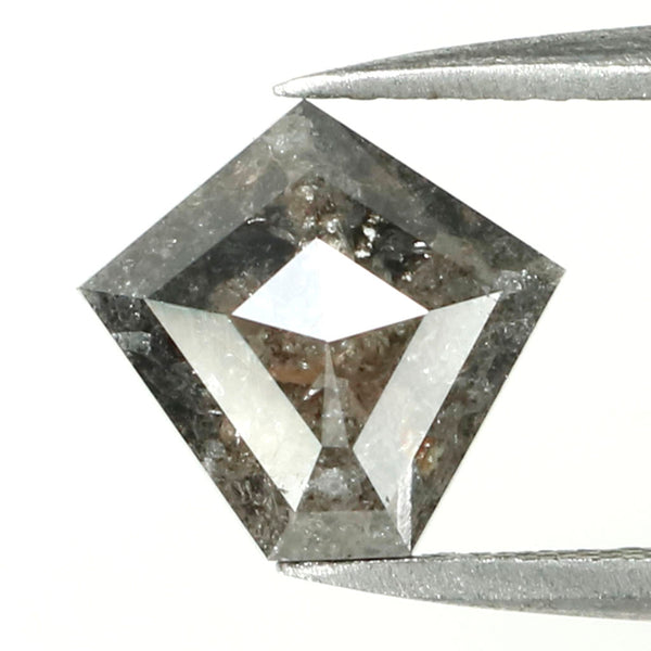 2.03 CT Natural Loose Diamond, Pentagon Cut Diamond, Black Diamond, Black Loose Pentagon Diamond, Rose Cut Diamond, Rustic Diamond L9999