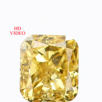 0.17 Ct Natural Loose Diamond Cushion Yellow Color SI2 Clarity 3.30 MM L8639