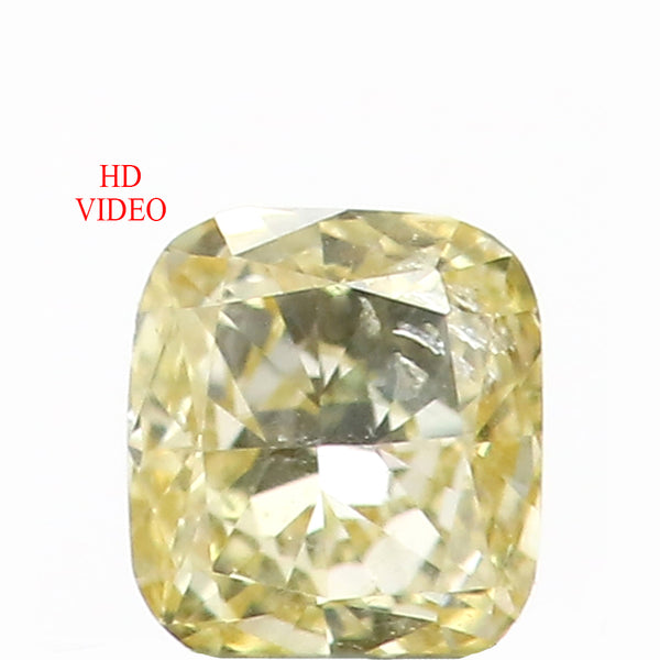 0.18 Ct Natural Loose Diamond Cushion Light Yellow Color SI1 Clarity 3.55 MM L8634