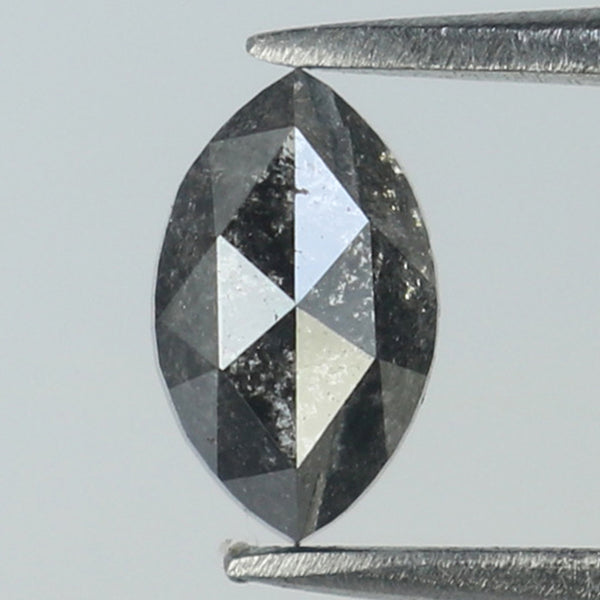0.49 Ct Natural Loose Diamond Marquise Black Grey Salt And Pepper Color I3 Clarity 6.05 MM L8829