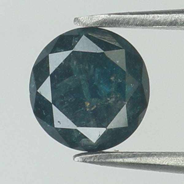 0.81 Ct Natural Loose Diamond Round Blue Color I3 Clarity 5.50 MM L8753