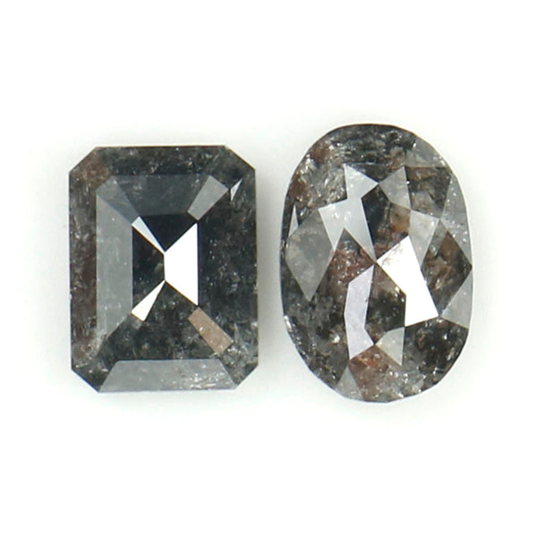 1.14 Ct Natural Loose Diamond, Mix Shape, Black Diamond, Oval Diamond, Emerald Diamond, Mix Diamond, Rustic Diamond L003
