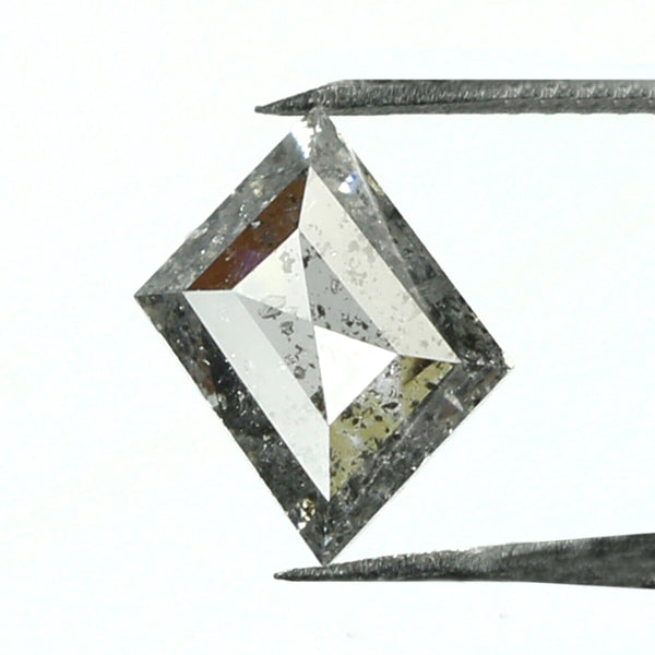0.58 CT Natural Loose Diamond, Salt And Pepper Diamond, Kite Cut Diamond, Black Diamond, Grey Diamond, Geometric Rose Cut Diamond GRL7666