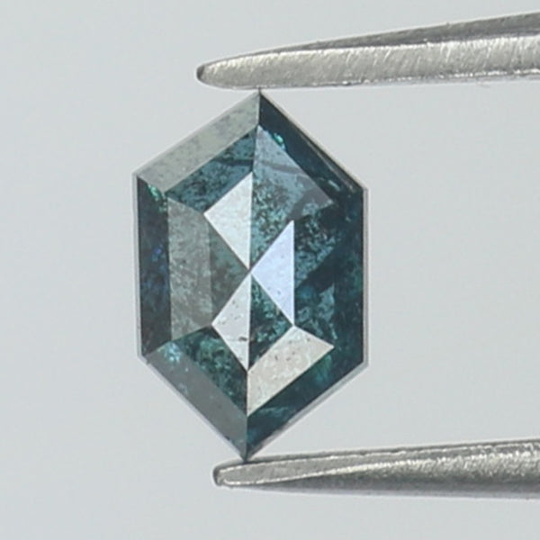 0.45 Ct Natural Loose Diamond Hexagon Blue Color I3 Clarity 5.80 MM L8754