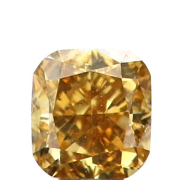 0.26 Ct Natural Loose Diamond Cushion Yellow Color VS Clarity 3.65 MM L8613
