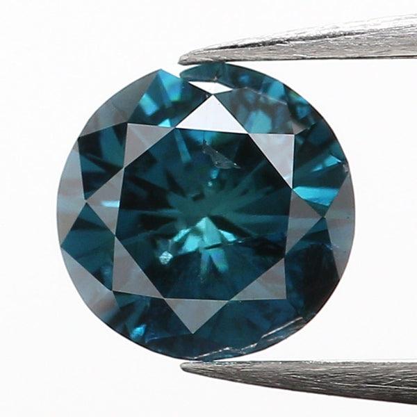 0.37 Ct Natural Loose Diamond, Blue Diamond, Round Diamond, Round Brilliant Cut Diamond, Sparkling Diamond, Rustic Diamond L9996