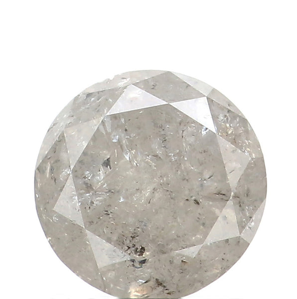 1.29 Ct Natural Loose Diamond Round Grey Color I3 Clarity 6.40 MM L8694