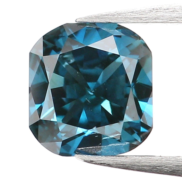 0.37 Ct Natural Loose Diamond, Cushion Diamond, Blue Diamond, Polished Diamond, Brilliant Cut Diamond, Rustic Diamond, Antique Diamond L9995