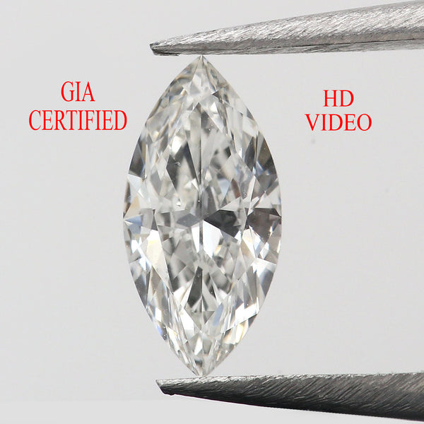Gia Certified 0.55 CT Natural Loose Diamonds Marquise H Color IF Clarity 8.76 MM KDL8858