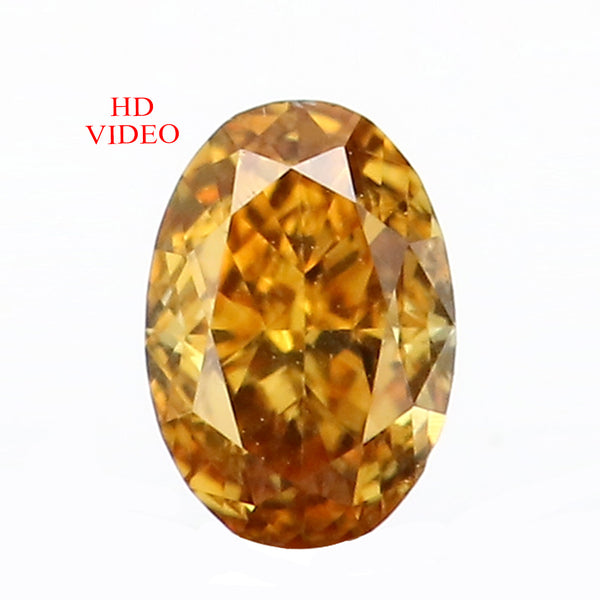 0.16 Ct Natural Loose Diamond Oval Yellow Color VS Clarity 4.05 MM L8627
