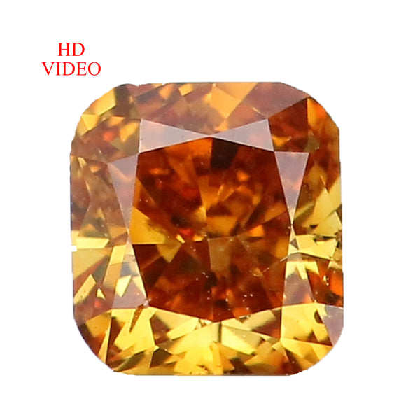 0.28 Ct Natural Loose Diamond Cushion Yellowish Brown Color SI1 Clarity 3.75 MM L8624