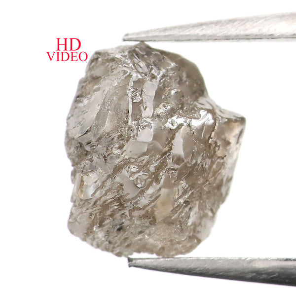 2.79 CT Natural Loose Diamond Rough Brown Color I3 Clarity 9.70 MM L9030