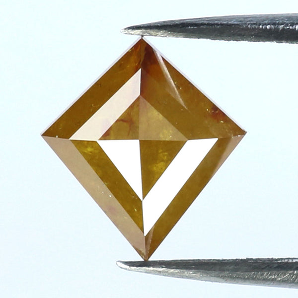1.74 CT Natural Loose Diamond Kite Yellow Brown Color I3 Clarity 9.00 MM KR2184